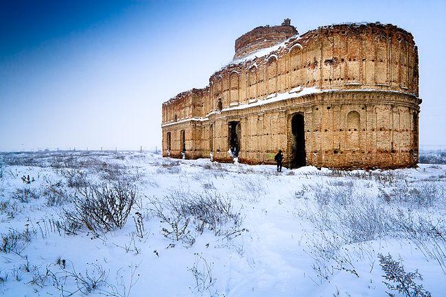 Manastirea Chiajna iarna