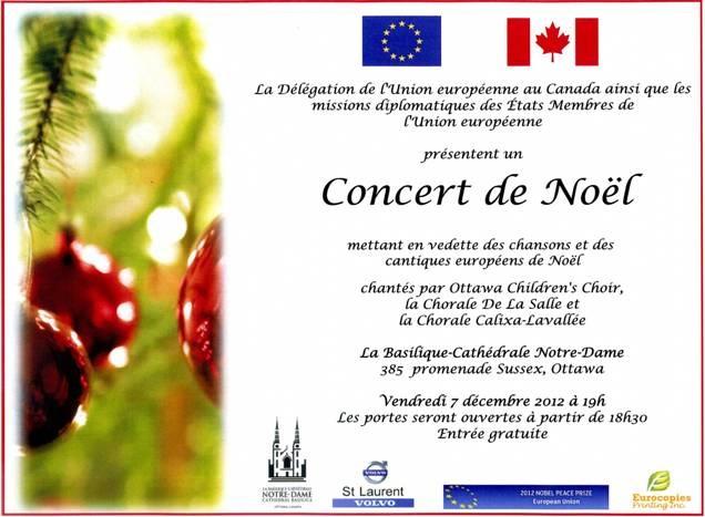 Concert Craciun Ottawa 2012